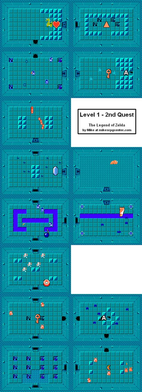 legend of zelda map level 1 mike s rpg center the legend of zelda