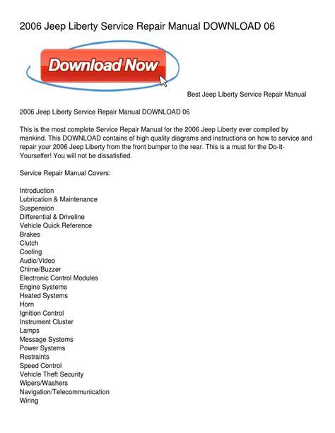 manual repair free 2006 infiniti m security system 2006 jeep liberty service repair manual download 06 by holly walker issuu