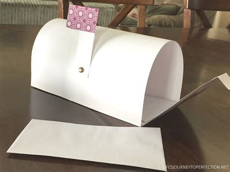 How To Make A Mailbox Out Of Paper - s journey to perfection how to make a paper mailbox
