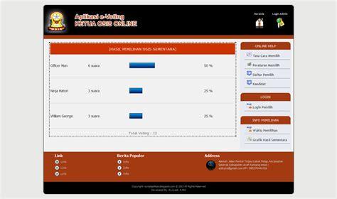 cara membuat web aplikasi dengan php sourcecode aplikasi e vote dengan php dan mysql kung