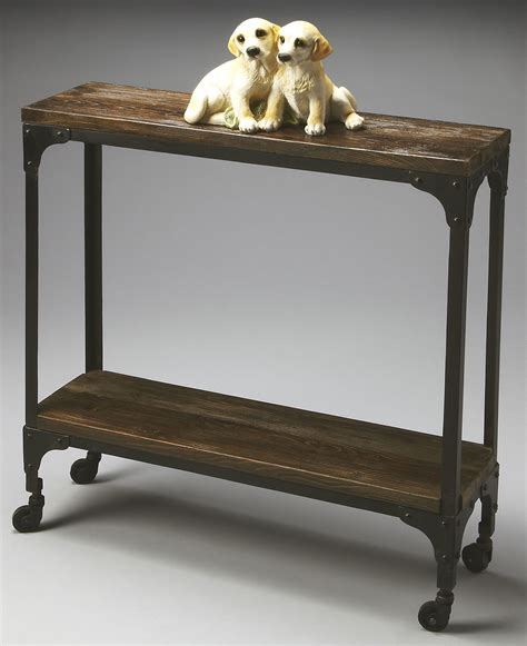 industrial chic console table 2873120 industrial chic mountain lodge console table from