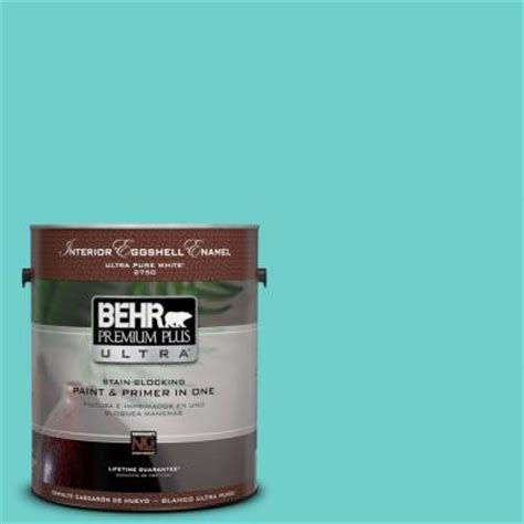 behr premium plus ultra 1 gal p450 4 sea glass eggshell enamel interior paint 275401