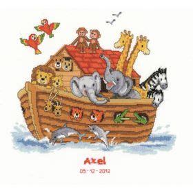 noah mills birth chart noah s ark birth record vervaco cross stitch kit
