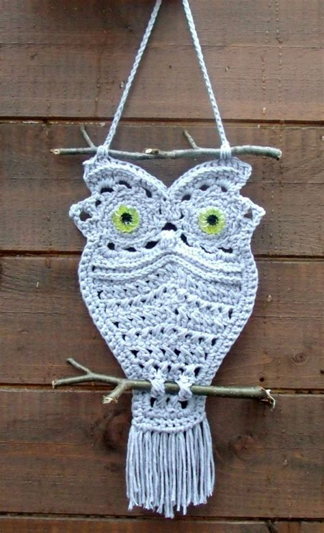 Macrame Animal Patterns - how to make macrame owls usefuldiy