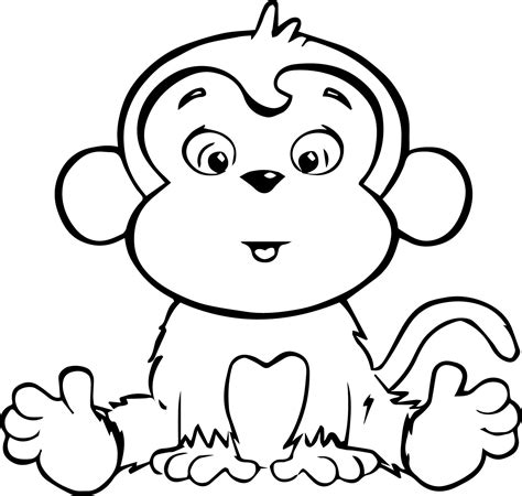 printable coloring pages monkeys monkey coloring book page coloring home