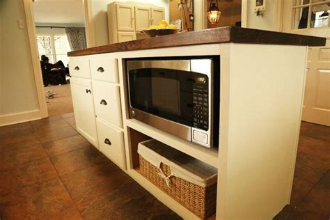Kitchen Island Microwave Microwave In Island Microwave In Island After Decor Pinterest In Kitchen Islands And Simple