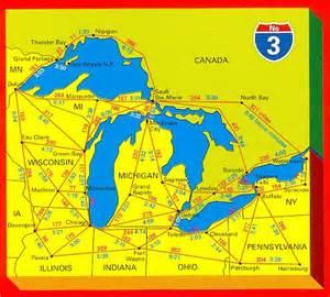 us map great lakes names hallwag