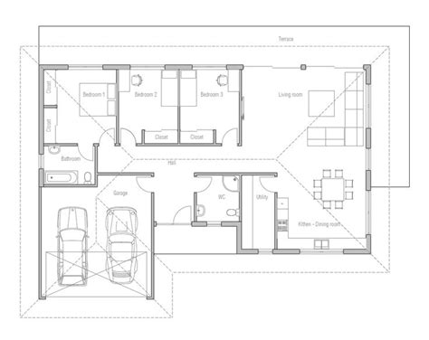 Small Efficient House Plans by Small House Design With Open Floor Plan Efficient Room