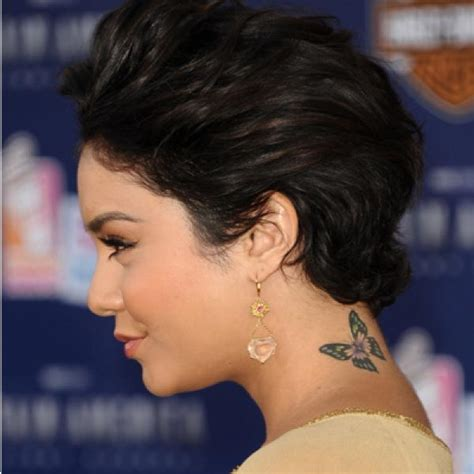 vanessa hudgens tattoos hudgens fit with tattoos shape
