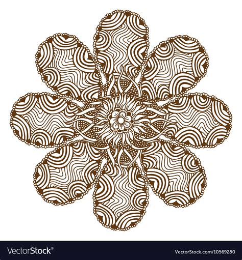 henna tattoo mandala royalty free vector image