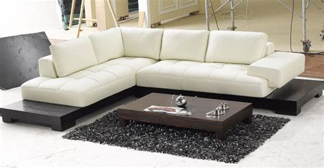 Contemporary Sectionals Modern Black And White Sectional L Shaped Sofa Design
