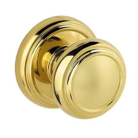 Baldwin Prestige Alcott Polished Brass Hall Closet Door Closet Door Knob