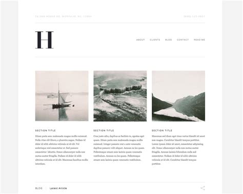 squarespace blog layout new business templates hudson and montauk the official