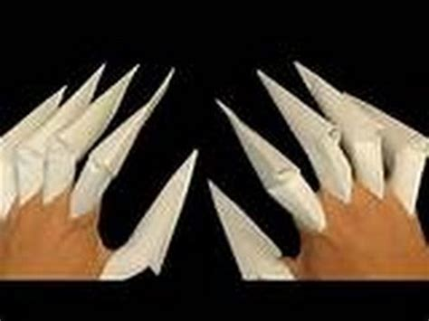 how to make paper wolverine claws