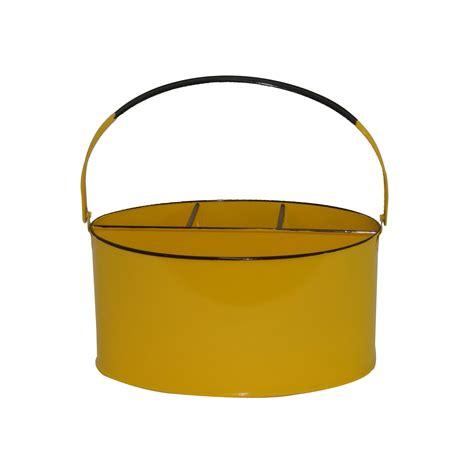 yellow kitchen utensil holder lemon yellow enamel oval utensil and tool holder kraft