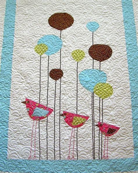 Crib Size Quilt Patterns by Wee Three Birds Crib Size Quilt