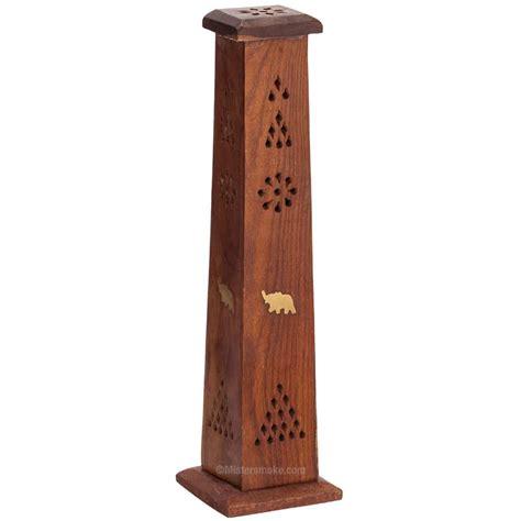 porte encens bois porte encens tour en bois mistersmoke
