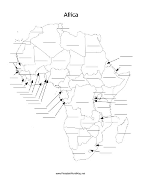 africa map fill in the blank africa fill in map