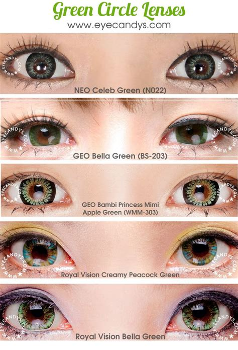 cheap colored eye contacts 12 best green circle lenses images on circle