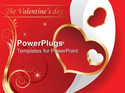 powerpoint template valentine s day theme with the