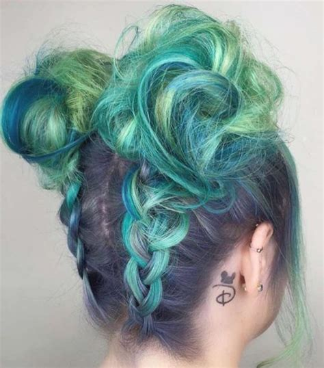 mint color hair 20 mint green hairstyles that are totally amazing