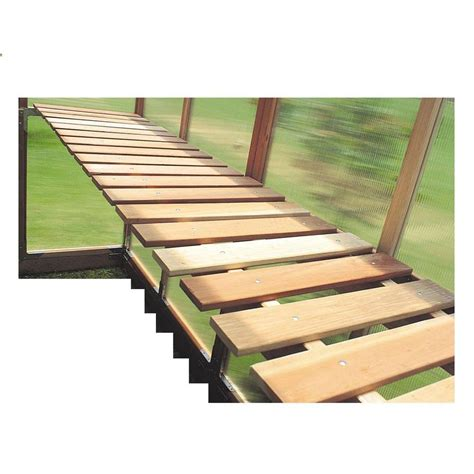 green house benches bench kit for gkp68 greenhouse gkp68 bench the home depot