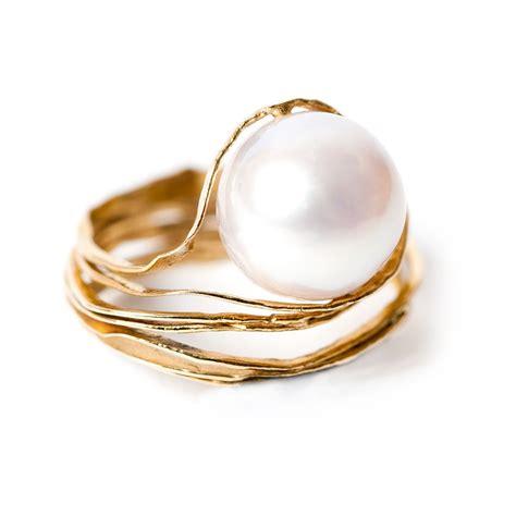 pearl engagement rings larissa landinez