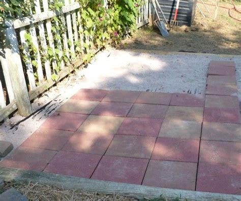 Laying Pavers Easy Patio Expansion Spring Flowers And Easy Paver Patio
