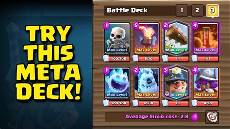 best meta deck miner poison meta deck strong clash royale