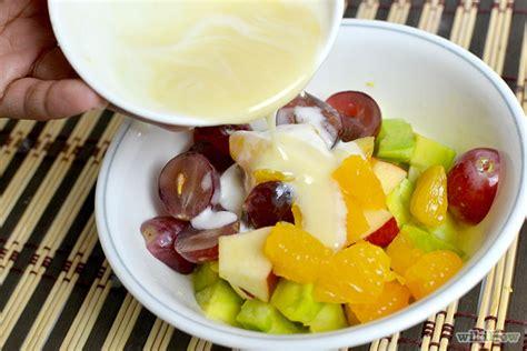 cara membuat salad buah dengan keju cara membuat salad buah saus keju mayonaise nikmat segar
