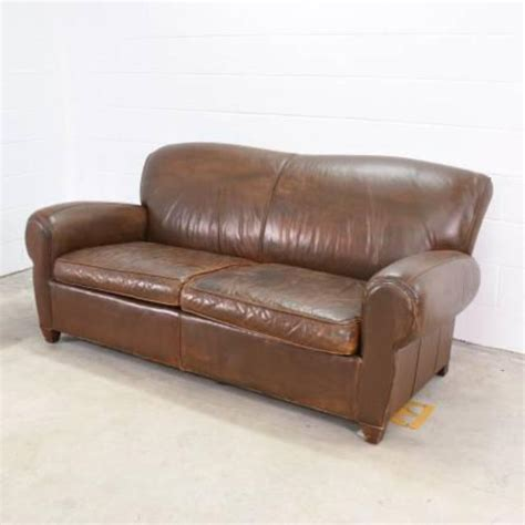 Brown Distressed Leather Sofa Distressed Brown Leather Loveseat Sofa Loveseat Vintage Furniture San Diego