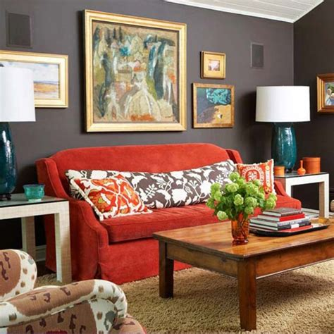 orange sofa decorating ideas bhg centsational style