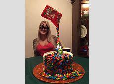 M & M Illusion Cake - CakeCentral.com Happy Retirement Cake