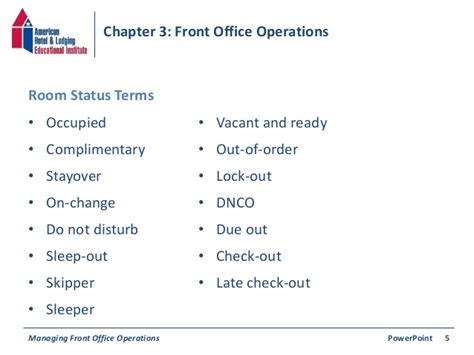 Office Operations by Chapter 3 Front Office Operations