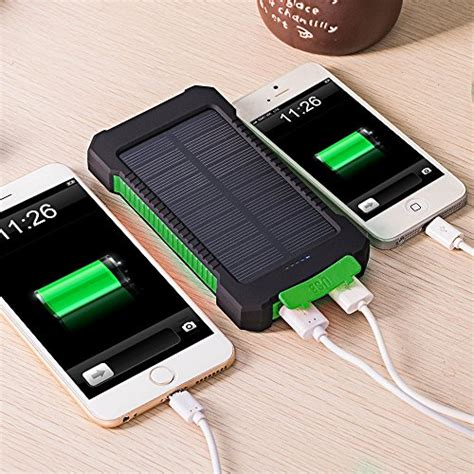 outdoor solar battery charger solar phone charger fkant 10000mah portable battery