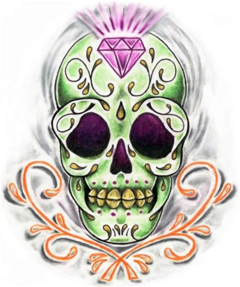 candy skull tattoo design sugar skull tattoos