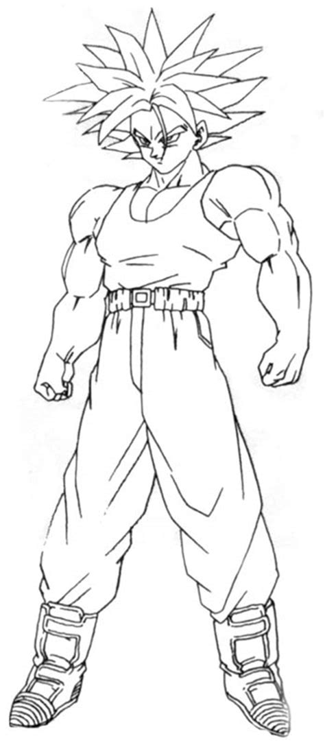 dragon ball z trunks coloring pages trunks super saiyan coloring pages coloring pages