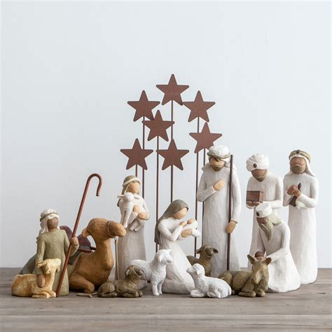 awe and wonder willow tree nativity set dayspring