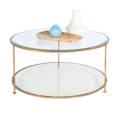 worlds away rollo gold leaf iron coffee table with