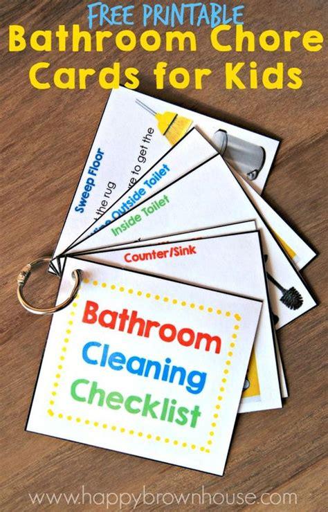 printable free will kit bathroom cleaning kit for kids free printable bathroom