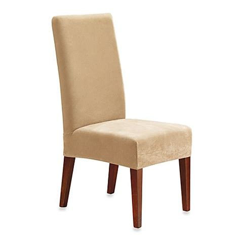 Sure Fit Dining Room Chair Slipcovers Sure Fit 174 Stretch Pique Dining Room Chair Slipcover Bed Bath Beyond