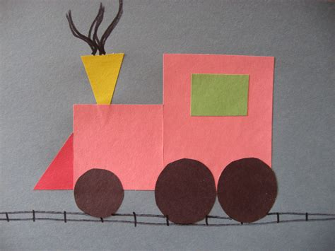 Railroad Point Right Paper Craft shapes worksheets themes community transportation worksheets trains