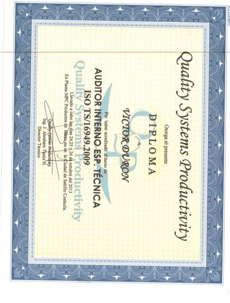 auditor interno certificado auditor interno