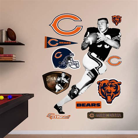chicago bears wall stickers size mike ditka wall decal shop fathead 174 for