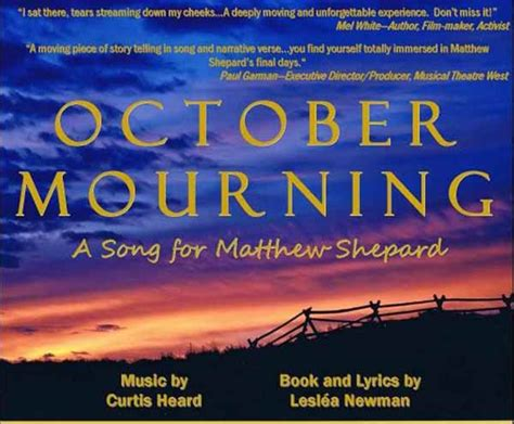 Pdf October Mourning Song Matthew Shepard by Comunidad Ministry With And Catholics St