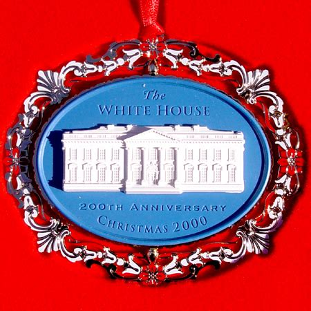 1980 white house christmas ornament 2000 200th anniversary ornament
