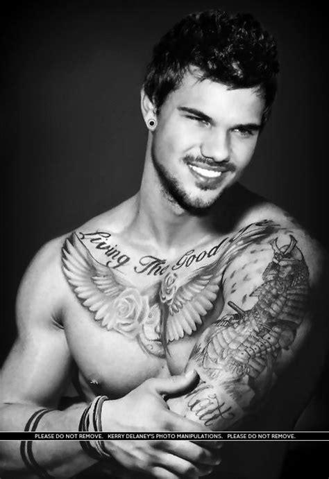 taylor lautner tattoos lautner manip http www kez100xx