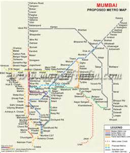 Mumbai Metro Map by About India History Of India Incredible India Attractions