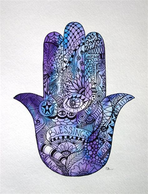 watercolor zentangle tattoo watercolor zentangle hamsa hamsa
