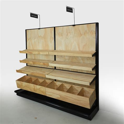 bakery display shelves wood store fixtures